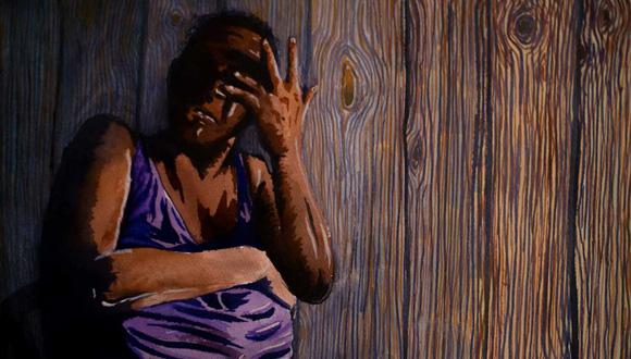 Miskitu villager shares her testimony. Illustration: Abner Hauge
