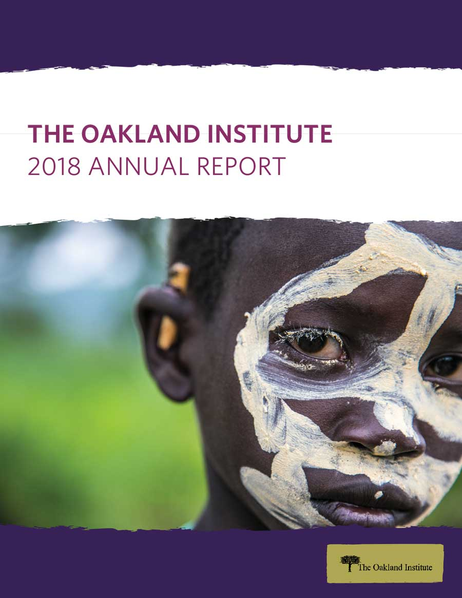 Oakland Institute 2018 Annual Report Cover