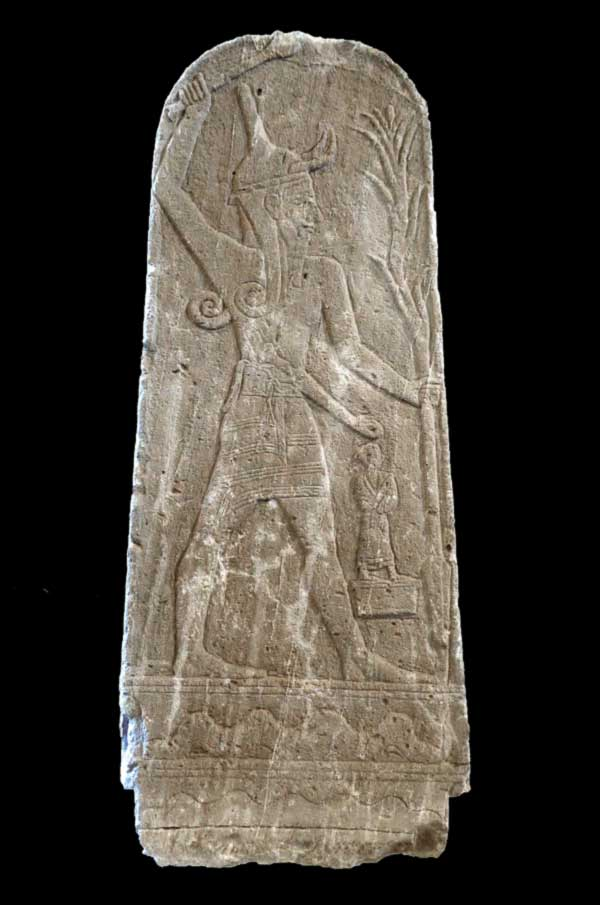 Baal with Thunderbolt, c. 15th – 13th century BC, on display at the Louvre. Credit: Mbzt, used under CC BY 3.0