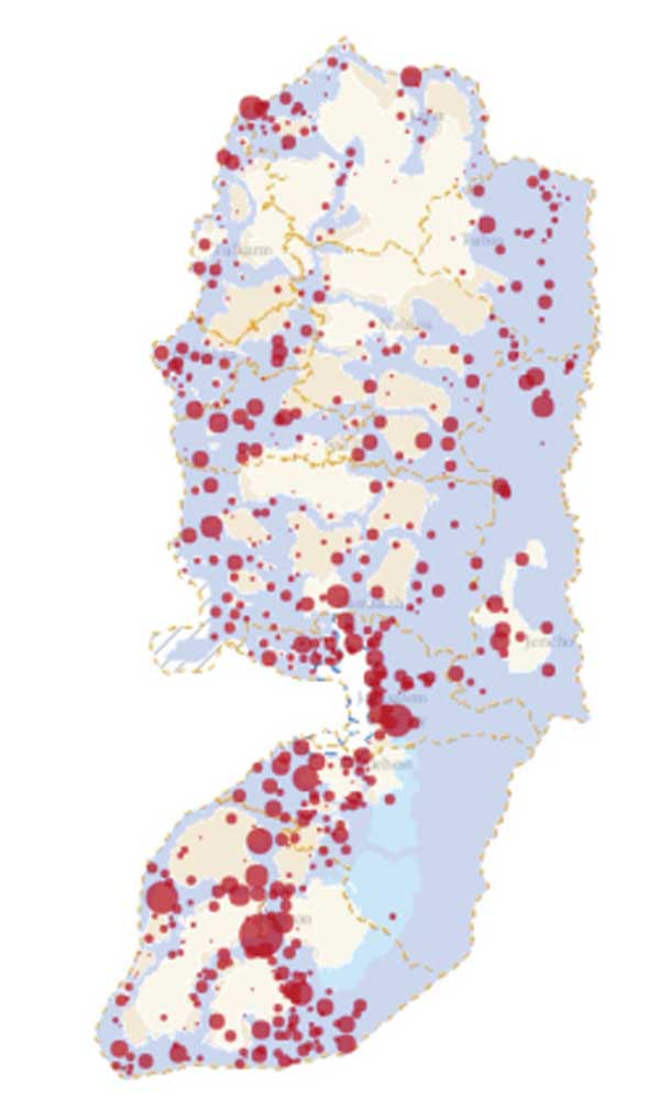 14,087 Demolition Orders against Palestinian Structures, Area C, 1988-2014.