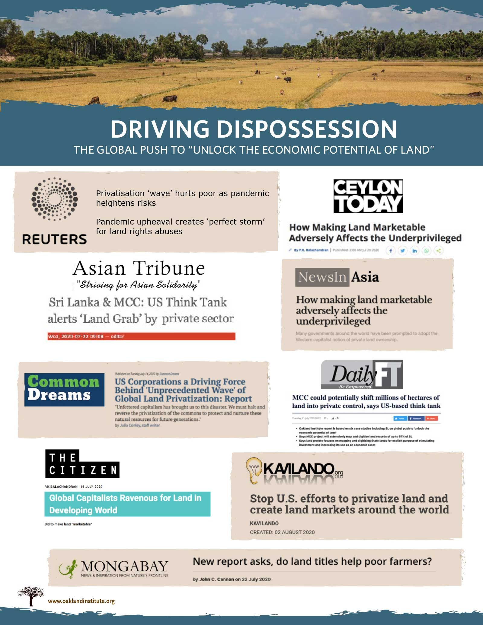 Driving Dispossession media coverage summary