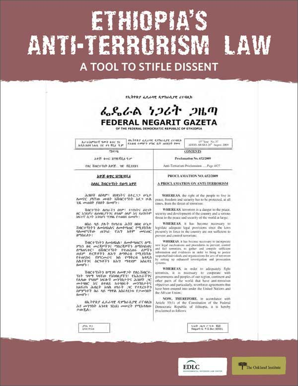 Ethiopia's Anti-Terrorism Law Cover