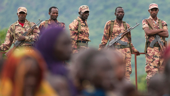 Soldiers in Kibish, 2012. Credit: The Oakland Institute