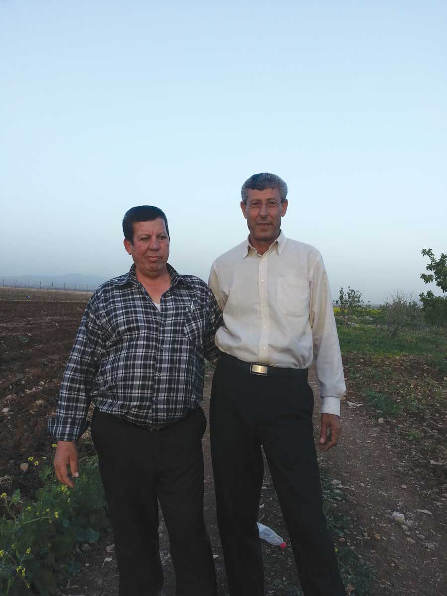 Jamal Abou Baker and his brother Soleman, farmers from Zbuba village. Credit: The Oakland Institute