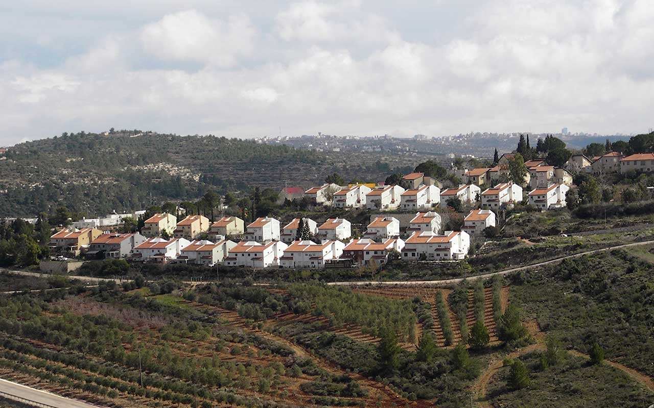 Nabi Salih Village and nearby Halamish settlement. Photo: The Oakland Institute