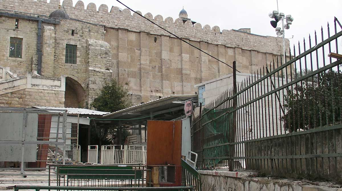 Security checkpoint at the Ibrahimi Mosque. Credit: The Oakland Institute