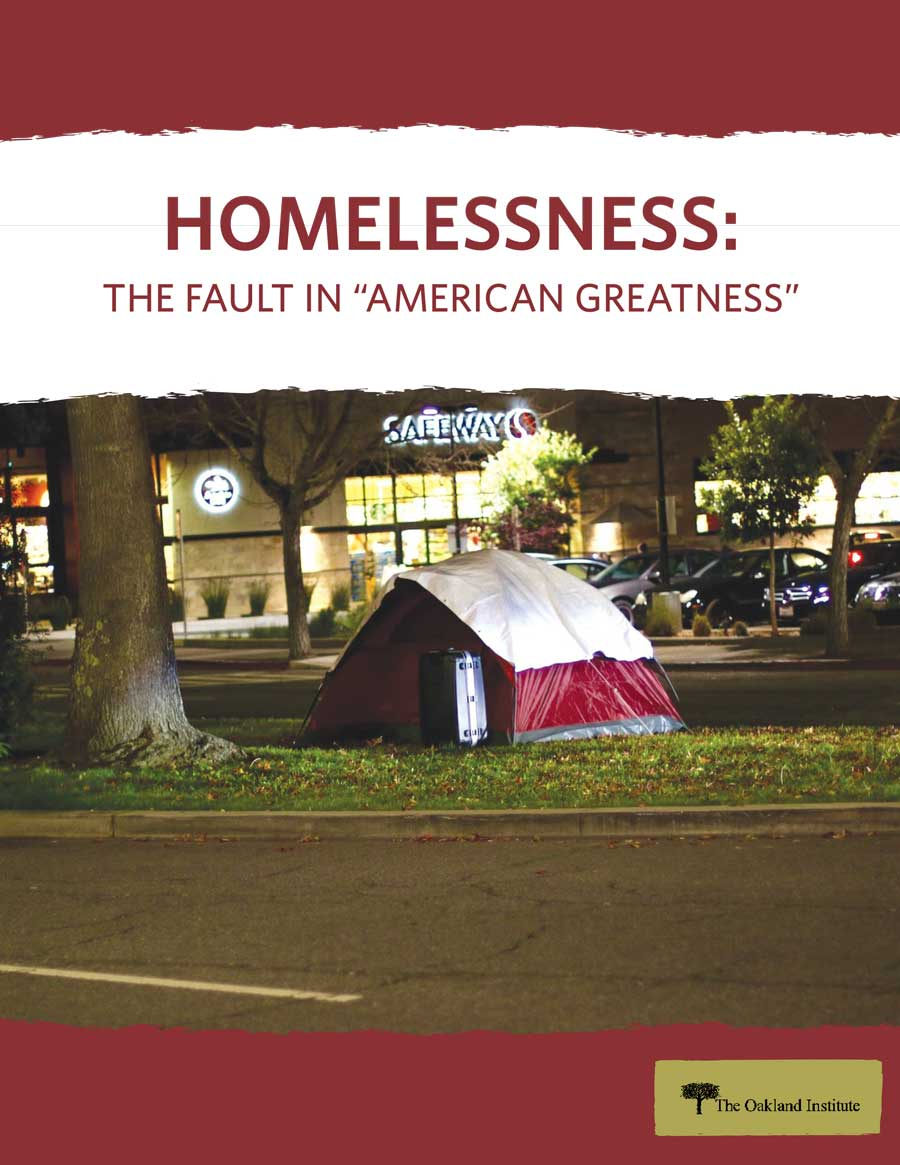 "Homelessness: The Fault in ""American Greatness"" report cover"