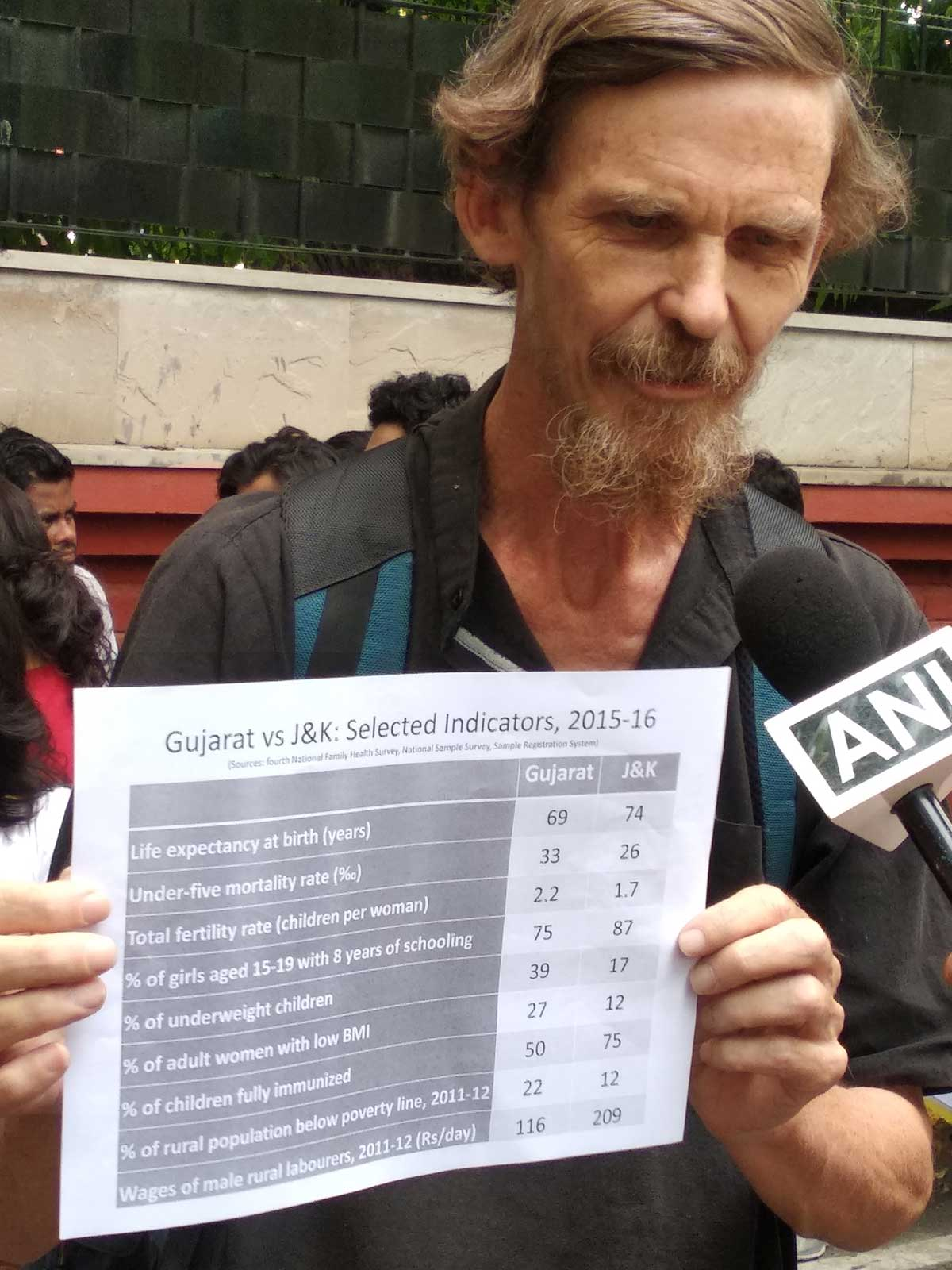 Renowned economist Jean Dreze offers data to challenge the development narrative as a justification for the abrogation of Article 370 of the Indian Constitution. Photo: Jean Dreze