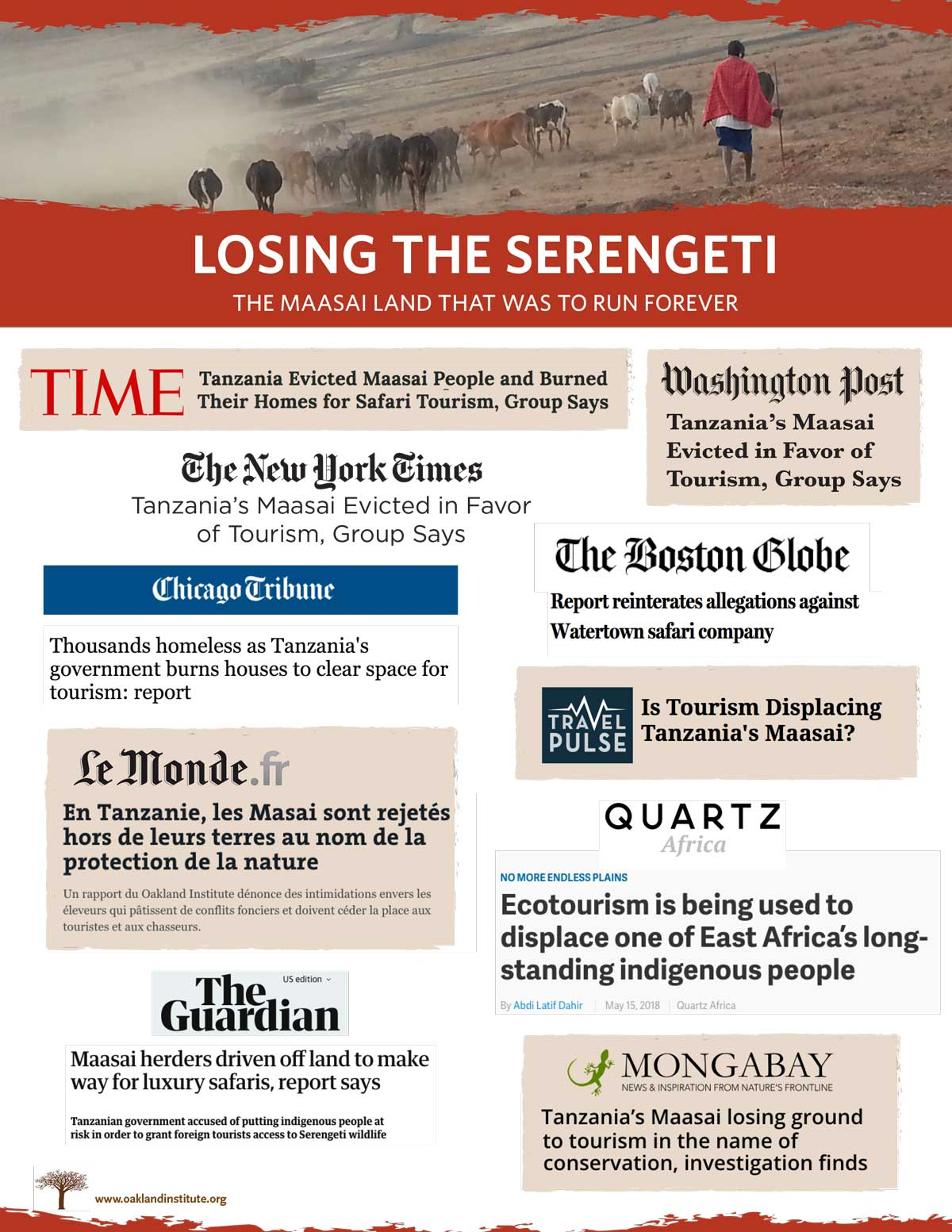 Losing Serengeti media coverage cover