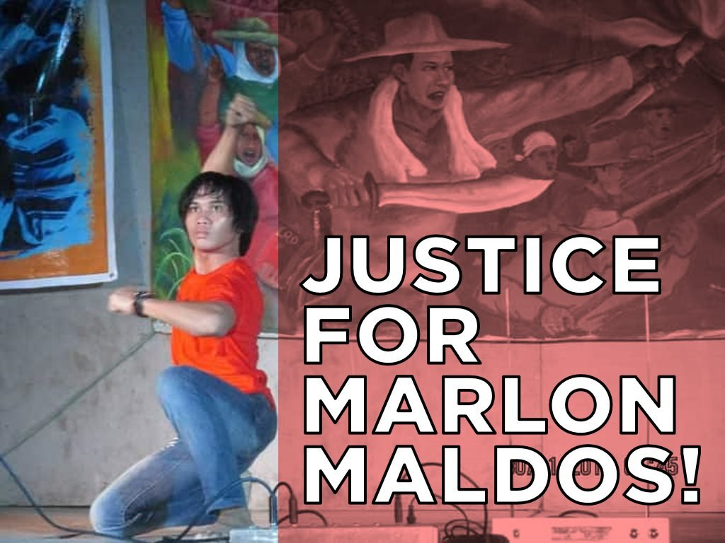 Justice for Marlon Maldos graphic