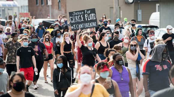 Protest march against police violence - Justice for George Floyd Minneapolis, Minn., May 26, 2020.