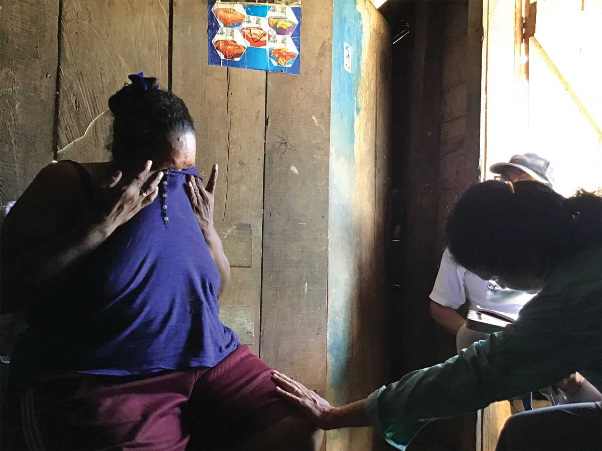 Miskitu villager shares her testimony