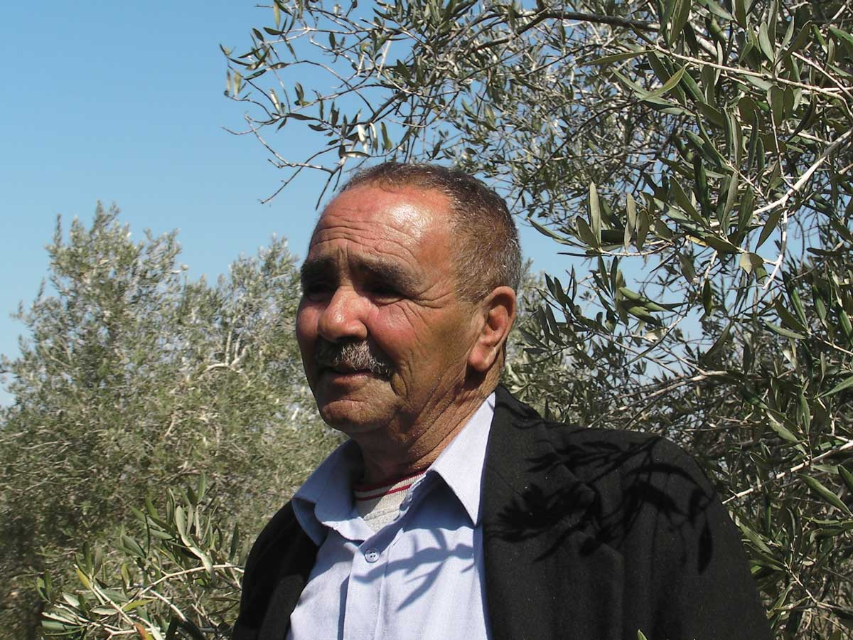 Mohammed Yasin in his field in the village of Anin. Credit: The Oakland Institute