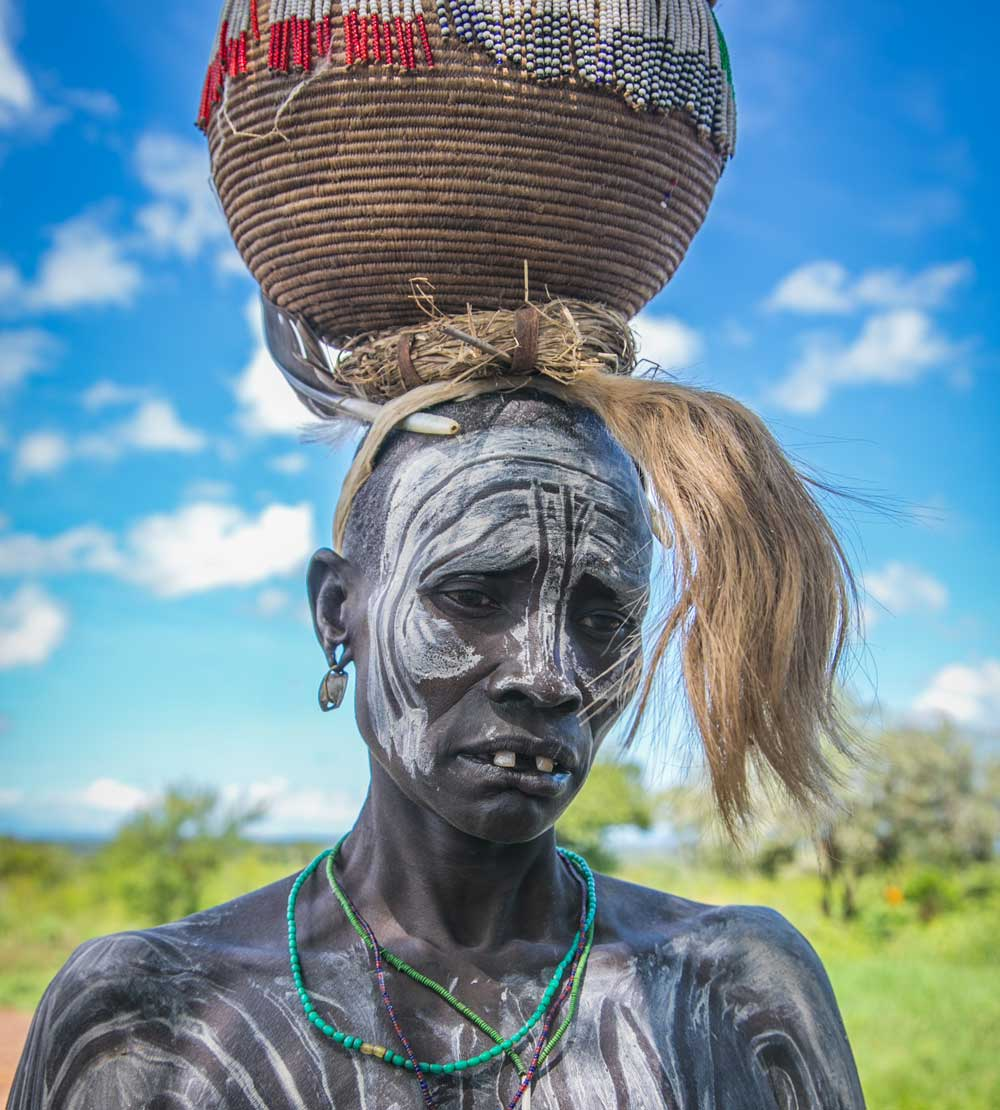 Mursi Woman near Mago National Park, October 2017 © Kelly Fogel