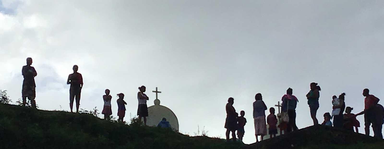 Miskitu villagers on the banks of Rio Coco. November 2018