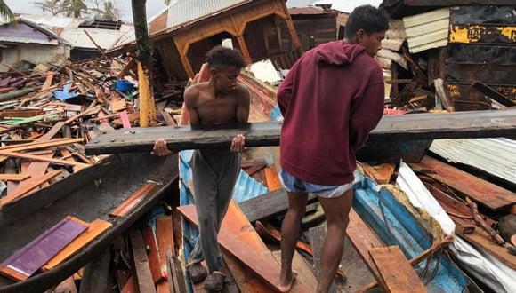 Aftermath of hurricanes in Nicaragua, Nov 2020.