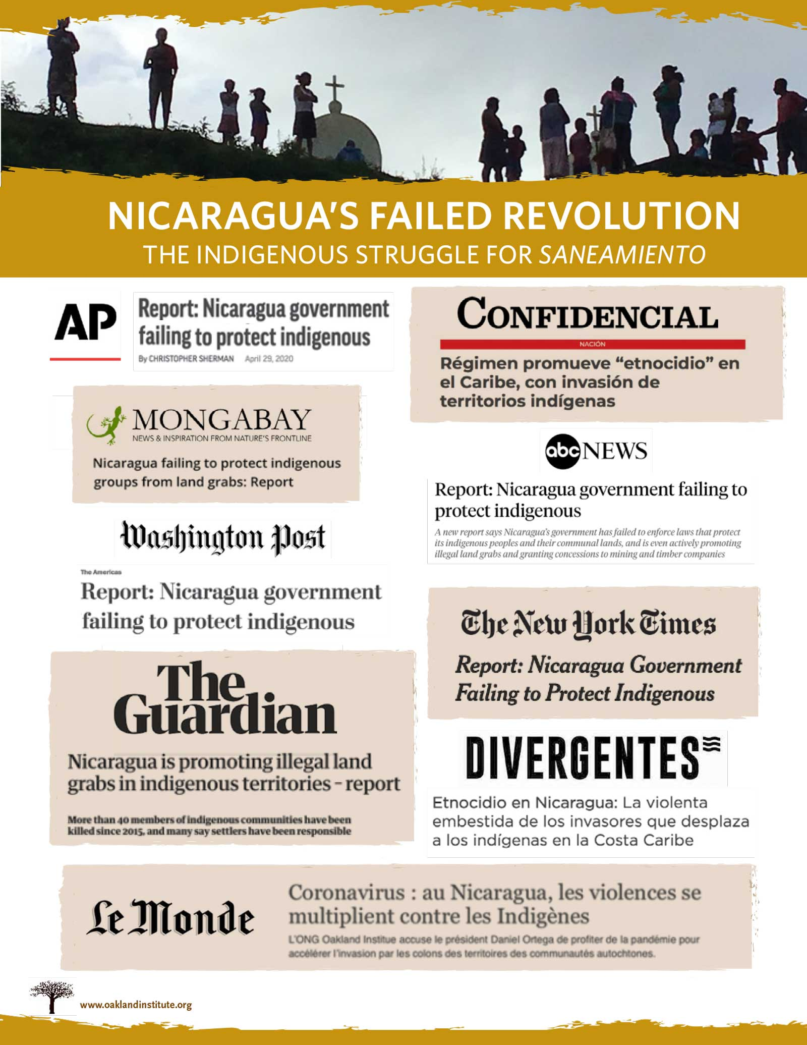 Nicaragua report media coverage highlights.