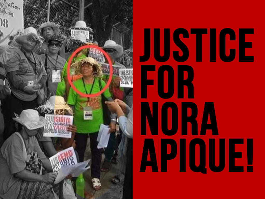 Justice for Nora Apique graphic