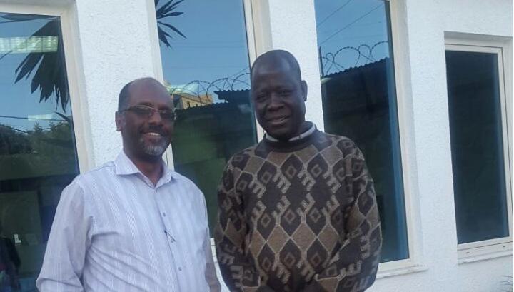 Right: Okello Akway Ochalla, left: Ameha Mekonnen, Mr. Okello's lawyer.