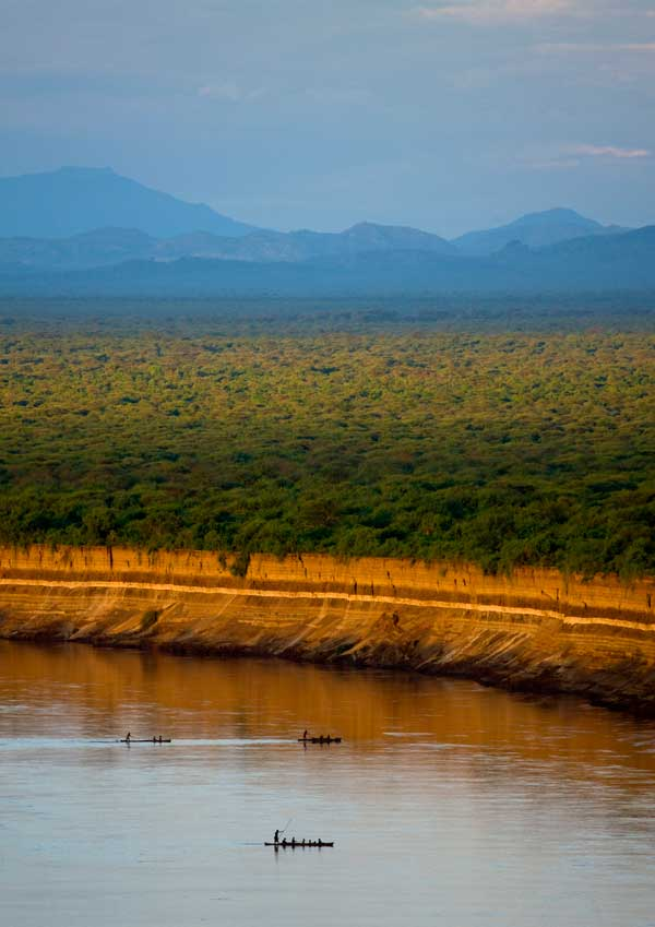 Omo River in 2012, before the completion of the Gibe III Dam © The Oakland Institute