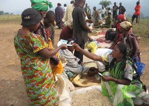 A seed fair in Democratic Republic of Congo. Credit: Alexa Reynolds, ACF DR Congo