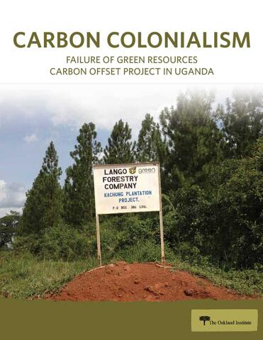 Carbon Colonialism Report Cover