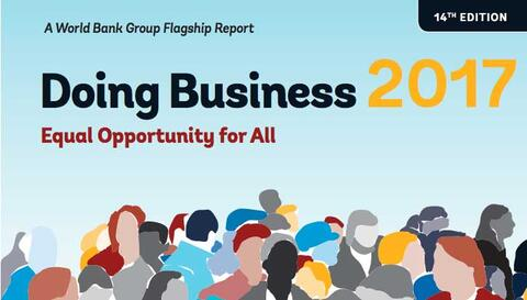 World Bank Doing Business 2017 Report Cover