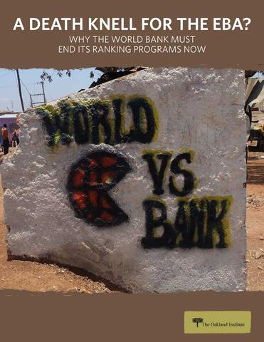 A Death Knell for the EBA: Why the World Bank Must End its Ranking Programs Now