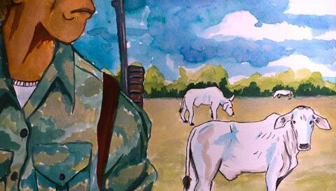 Ranching Away Indigenous Land Rights. Illustration: Abner Hauge