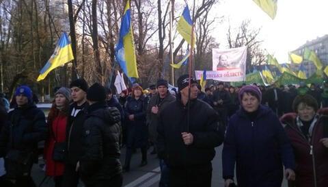 Farmer protests against the land reform, December 2020.
