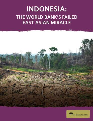 Indonesia: The World Bank's Failed East Asian Miracle Cover