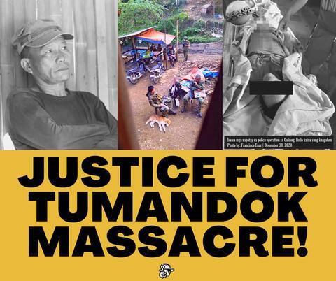 Justice for Tumandok Massacre poster