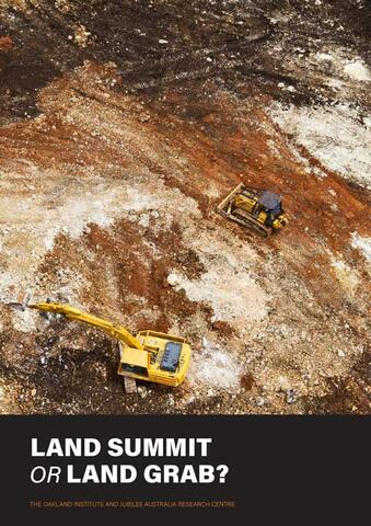 Report cover: Gilford Ltd. clearing land in West Pomio © Paul Hilton / Greenpeace