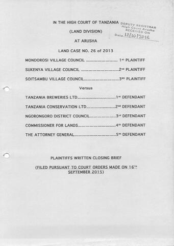Plaintiff's Closing Brief - Sukenya Case (13.58 MB)