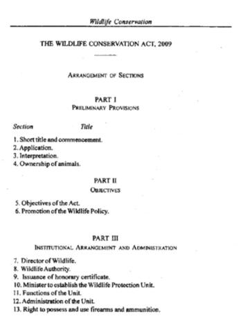 Wildlife Conservation Act 2009 Tanzania (5.2 MB)