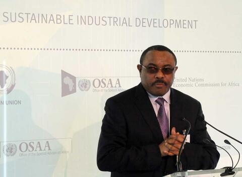 2015--Ethiopia Prime Minister Hailemariam Desalegn at NY event on industrialization in Africa. On January 3, 2018 Prime Minister Desalegn announced that the government would release all Ethiopian political prisoners and close the notorious Maekelawi police station. Credit: UNIDO (CC BY-ND 2.0)