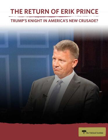 The Return of Erik Prince: Trump's Knight in America's New Crusade?