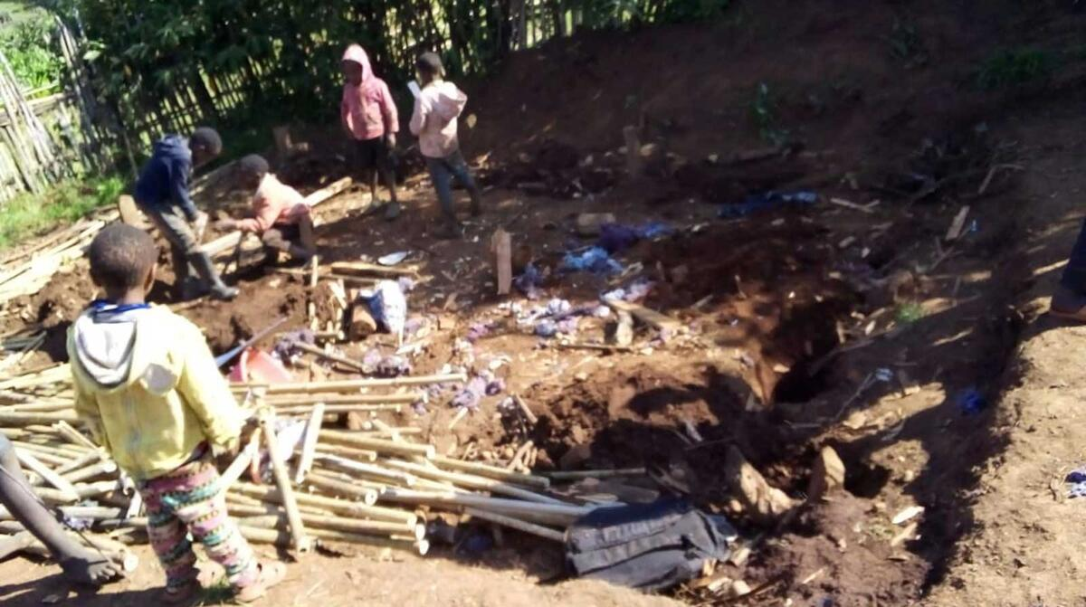Aftermath of evictions in the Mau Forest Complex. Photo OPDP