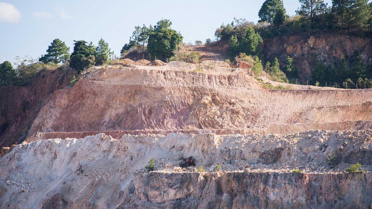 Overlooking San Andres mine, Honduras.