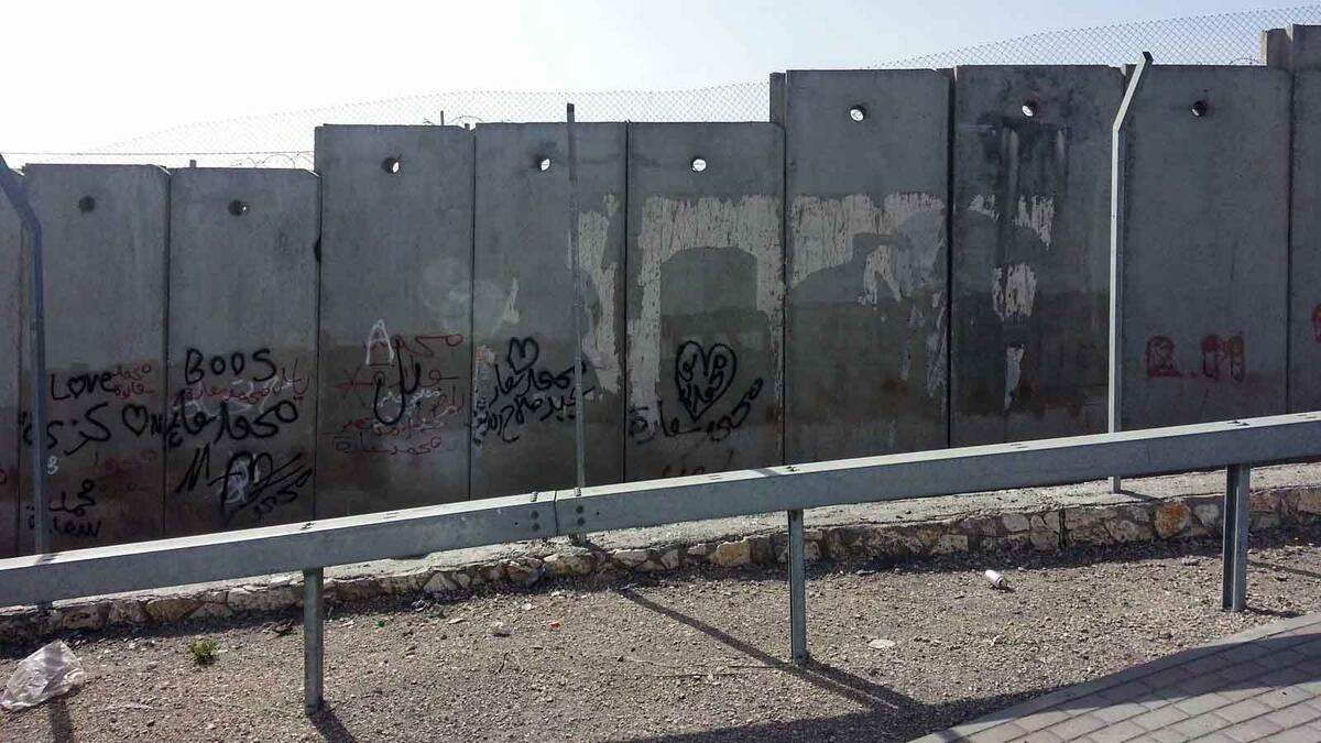 Separation wall in West Bank. Credit: The Oakland Institute