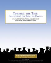 Turning the Tide: Challenging the Right on Campus, report cover.