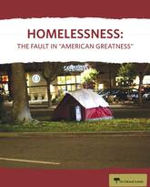 """Homelessness: The Fault in """"American Greatness"""" report cover"""