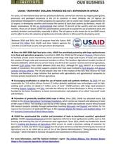 USAID factsheet cover