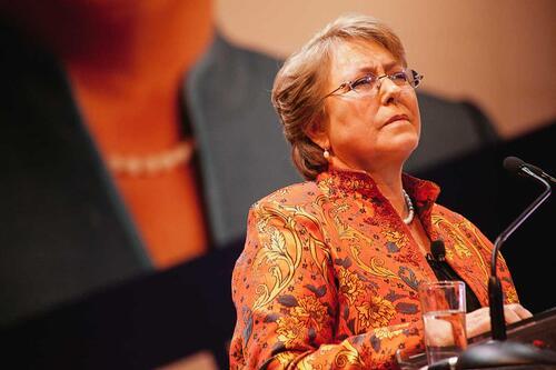 Un Teatro Caupolican lleno esperó a Michelle Bachelet para la proclamación del Partido Socialista y Partido por la Democracia, como su pre candidata presidencial.