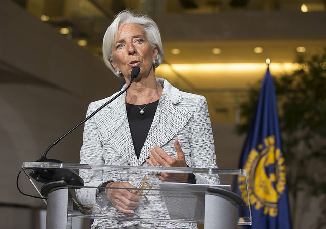 IMF's Christine Lagarde announces Ukrainian bailout, April 30, 2014