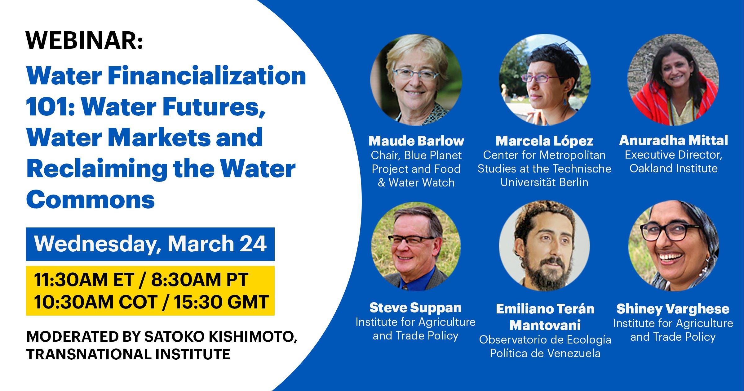 Water Financialization 101 flyer