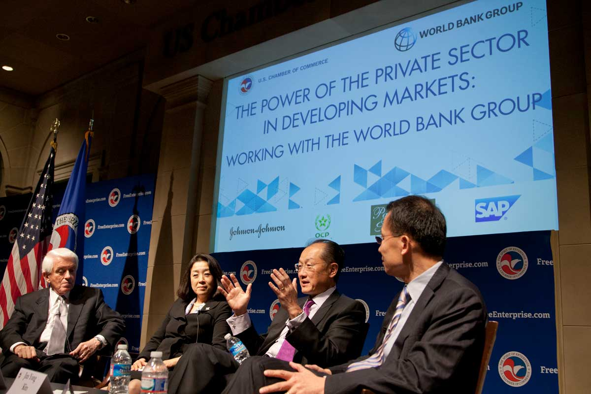 U.S. Chamber of Commerce hosts World Bank Group leaders for dialogue on role of business community in developing markets